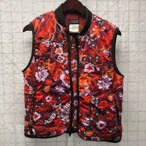 Patagonia floral paisley puffer vest